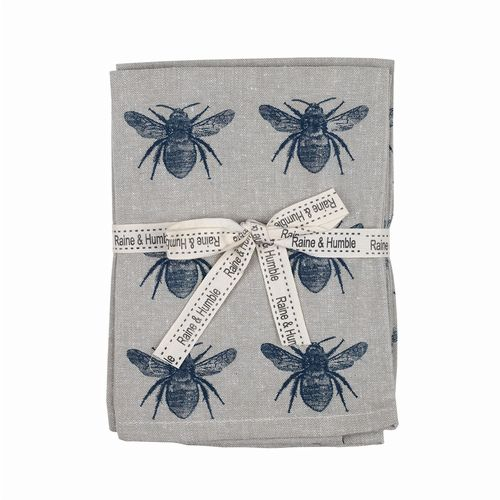 Bee Collection - Napkins Set of 4 - Prussian Blue